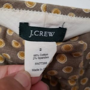 J. Crew Shorts - J. CREW tan shorts with circle prints 2